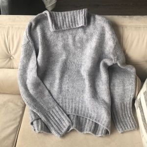 NWOT H&M Heather Gray Oversize Sweater, S